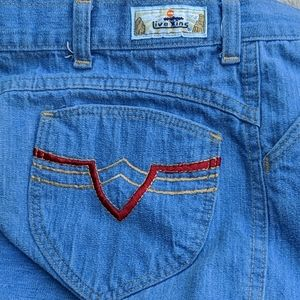 Vintage Live Ins High Rise Wide Leg Blue Jeans